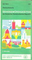 Übersichtskarte der Sehenswürdigkeiten der DDR, 1973