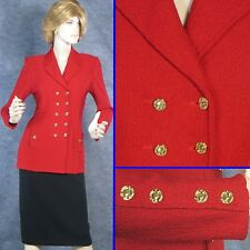 GORGEOUS! ST JOHN TEXTURED KNIT RED JACKET SZ 2