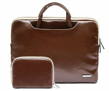 "11""13""15""15.6"" PU Leather Laptop Handle Pouch Bag PC Cover Case For Macbook Dell"