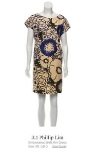 3.1 Phillip Lim shift dress embroidered w/ pockets $595