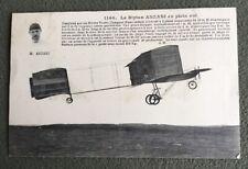 """CPA. Le Biplan ANZANI en plein vol. 1908?  """"Nouveau genre de sport""""."""