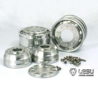 LESU 1/14 Front Metal Wheel Hub for DIY TAMIYA  Axle RC Truck Bearing Brake