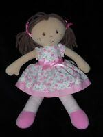 M&S RAG DOLL COMFORTER WHITE PINK FLORAL DOUDOU MARKS AND SPENCER