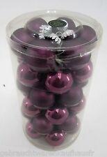 Weihnachtsbaumkugeln 40mm aus Glas-Violett -18xMatt+18xGlanz- 36 St. im SET