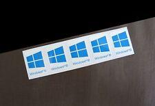 5 PCS Windows 10 Sticker Badge Logo Decal Cyan Color Win 10 USA Seller
