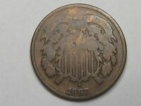 1867 US Two Cent Piece Coin. 2¢.  #40