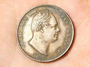 1837 George IV Halfpenny Coin #EE38