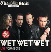 Wet Wet Wet 2xCD Live Volume One - Promo - England (VG/EX)