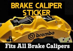 Brembo Brake Caliper x6 Decals Stickers BLACK vinyl logo universal fit