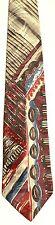 Men's New silk Neck Tie, Red Purple Blue White Gray geo design by Adolfo