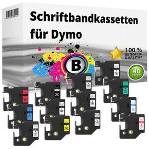 Kompatibel Dymo D1 LabelManager / LabelPoint Etikettenbänder 6mm 9mm 12mm 19mm