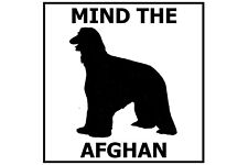 Mind the Afghan Hound - Gate/Door Ceramic Tile Sign