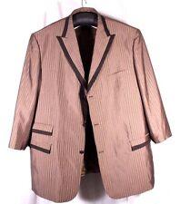 Giorgio Fiorelli Size 58 Lemar 3PC Suit Jacket Vest Pants Mauve Subtle Stripe