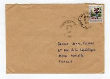 CÔTE D'IVOIRE 1 timbre sur lettre tampon 1996  Abidjan  /L890