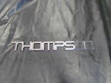 "THOMPSON CHROME RAISED SELF-ADHESIVE PLAQUE DECAL 19 1/8"" X 2 1/4"" MARINE BOAT"