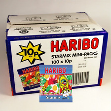 Haribo Starmix 10p Bags Box of 100 Bags Ideal for Parties Free P&P Only  £9.98