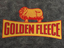 Large Golden Fleece 'Ram on Dogbone' vinyl sticker for Wayne 605 petrol bowser