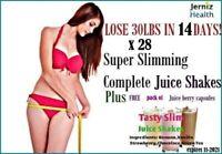Lose 30lb in 2 Wks Complete Slim Plan!Diet Juice Shakes plus Free Berry Capsules