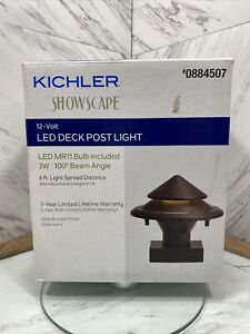Kichler 3-Watt Olde Bronze Low Voltage Hardwired LED Post Cap