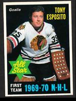 1970-71 O-Pee-Chee #234 Tony Esposito AS1 Chicago Blackhawks Goalie, mint or gem