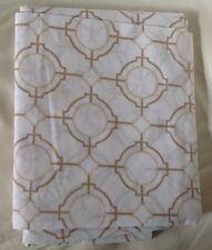 Sferra CONNERY Standard Sham Camel/White Egyptian Cotton Percale Print
