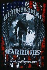 U.S ARMY - MILITARY - REBUILDING WARRIORS.COM T-SHIRT - DOGS - SIZE XL - EUC