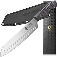 """Kessaku Santoku Knife - Senshi Series - Japanese AUS-8 High Carbon Steel - 8"""""""