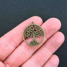 5 Tree of Life Charms Antique Bronze Tone Larger Size - BC951