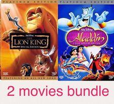 The Lion King -DVD - Aladdin- DVD - Disney Favorite Bundle
