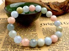 Natural Colorful Morganite Gemstone Round Beads Bracelet 10mm AAA