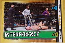 361 Interference +4 defence & attack WWE Slam Attax 10th Edition 2017