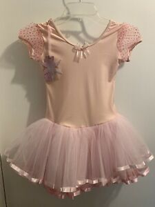 Girl's Barbietu 3/4 Sleeve Pink Tutu Dress - Size XL