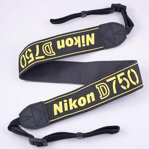 Genuine Nikon D750 Camera Strap, Yellow on Black.    #QG2