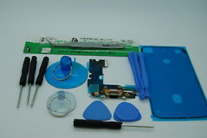 Charging port replacement kit & waterproof seal tape for iPhone 7 BLACK