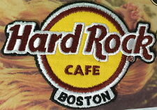 Hard Rock Cafe BOSTON 2016 Classic HRC Logo PATCH on Card NEW! Easy Iron/Sew ON