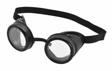 Adult Black Goggles Pilot Aviator Minion Steampunk Glasses Fancy Dress Accessory