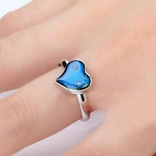 Fashion Chic Magic Feeling Mood Ring Changing Color Heart Shaped Temperature