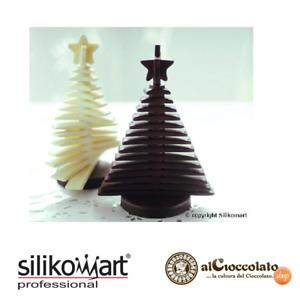 SILIKOMART STAMPO SILICONE 3D ALBERO DI NATALE DI CIOCCOLATO C3D 01 3D TREE CHOC