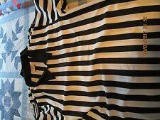 Referee Umpire Shirt Black White Short Sleeve 1/4 Zip men's XL 46-48