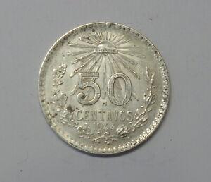 MEXICO : SILVER 50 CENT 1944 . 0.720 SILVER. KM 447