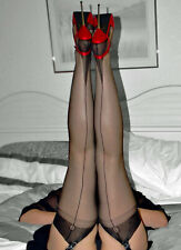 Gio Fully Fashioned Stockings - BLACK POINT - Imperfects from NYLONZ