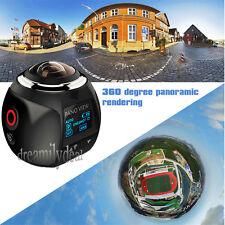 360 Camera 4k Wifi Panoramic Camera 2448*2448 16M HD Video DVR Waterproof Black