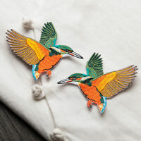 2pcs Birds Embroidered Sew Iron on Patch DIY Badge s Bag Applique Clothes D F0X1