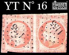 YT N°16 : NAPOLÉON 40 CENTIMES ORANGE EN PAIRE !!!