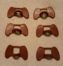 6 pcs. Kuhl Pinless Peepers Chicken Blinders Spectacles Brown Made in Usa