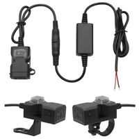 9V/90V Waterproof Motorcycle Phone GPS Dual USB Power Supply Socket Charger UK