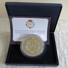 2010 WILLIAM AND CATHERINE ROYAL ENGAGEMENT 5oz SILVER PROOF MEDAL - boxed/coa