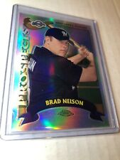 2002 Topps Chrome REFRACTOR Brad Nelson RC #T190 Brewers Baseball Card (b)