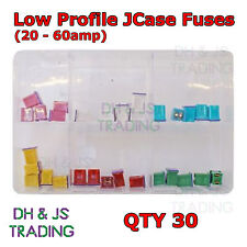 Assorted Box of Low Profile JCASE Type Fuses Low Profile 20 - 60amp Qty 30