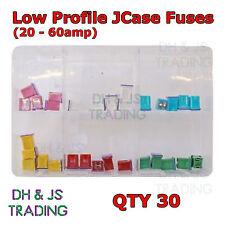 Assortiti Scatola di basso profilo JCase tipo FUSIBILI basso profilo 20 - 60amp Qtà 30
